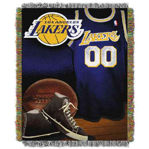 1NBA051020013RET: NBA JACQUARD VINTAGE THROW, Lakers