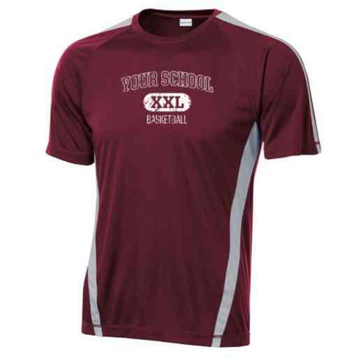 Basketball Sport-Tek Colorblock Competitor T-Shirt
