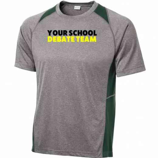 Debate Team Sport-Tek Heathered Short Sleeve Performance T-shirt