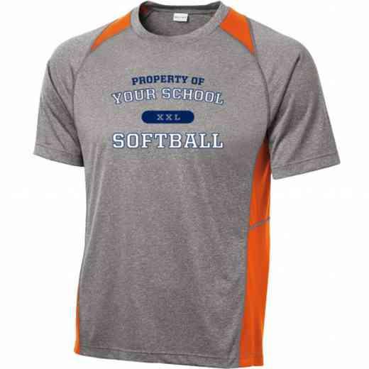 Softball Sport-Tek Heathered Short Sleeve Performance T-shirt