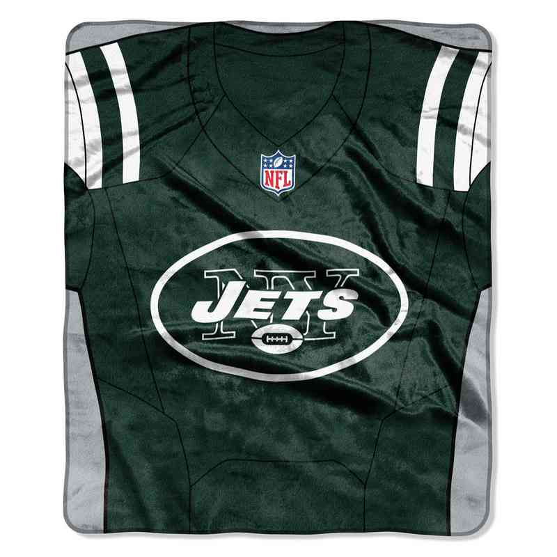 New York Jets Jersey Raschel Throw