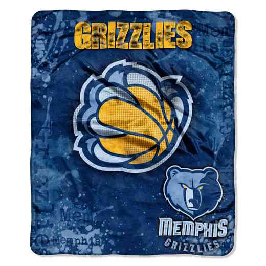 1NBA070200028RET: NBA DROPDOWN RASCHEL THROW, Grizzles