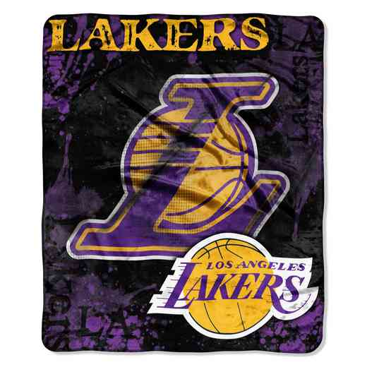 1NBA070200013RET: NBA DROPDOWN RASCHEL THROW, Lakers