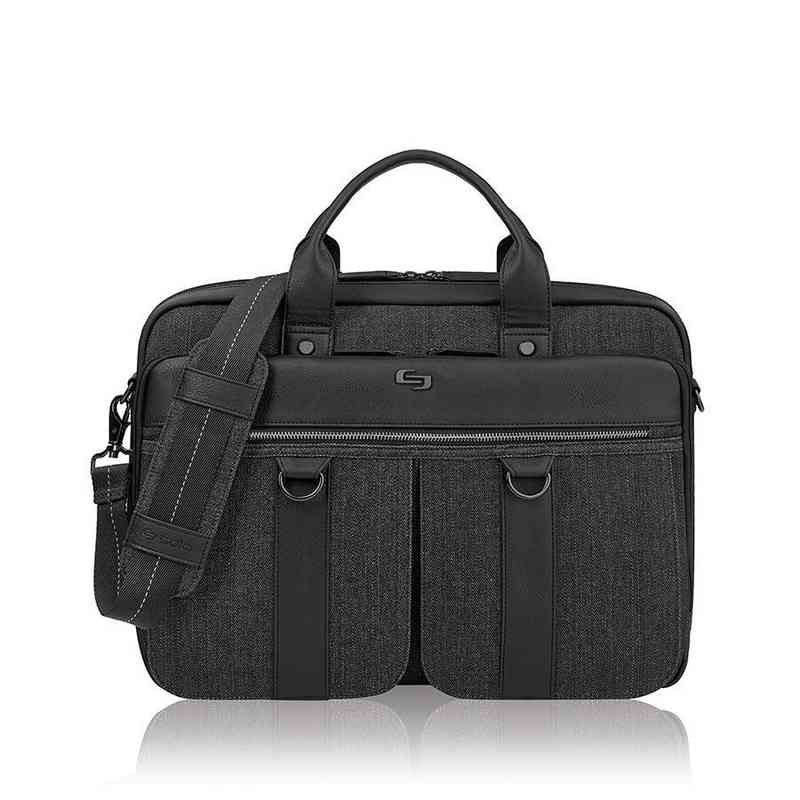 EXE335-4U2: Solo Mercer Briefcase- Black