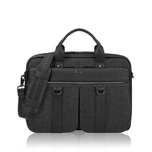 EXE335-4U2: Solo Mercer Briefcase- Black