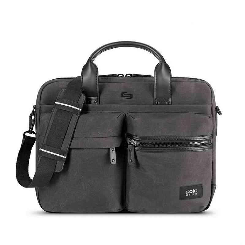 HLD300-23U2: Solo Hamish Briefcase- Ash