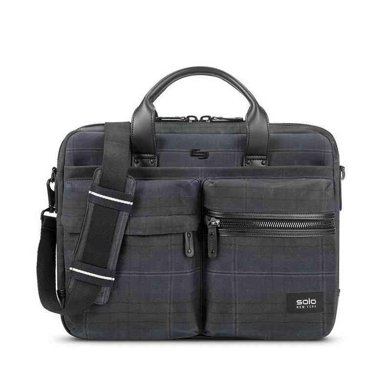 HLD300-51U2: Solo Hamish Briefcase- Plaid