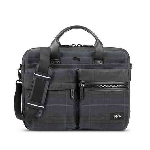 HLD300-51U2: Solo Hamish Briefcase- Plaid