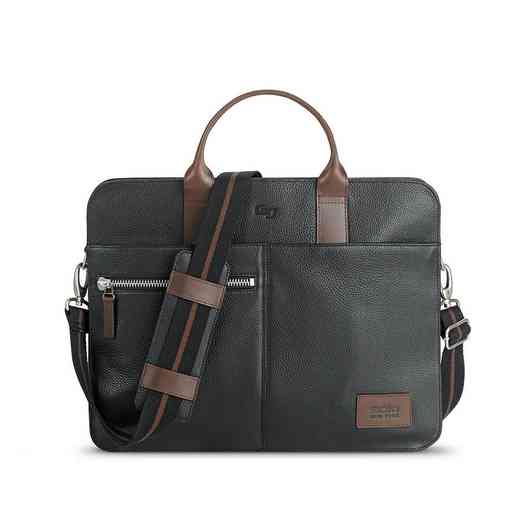 LEA100-4U4: Solo Brookfield Leather Slim Brief