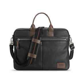 LEA300-4U2: Solo Shorewood Leather Briefcase