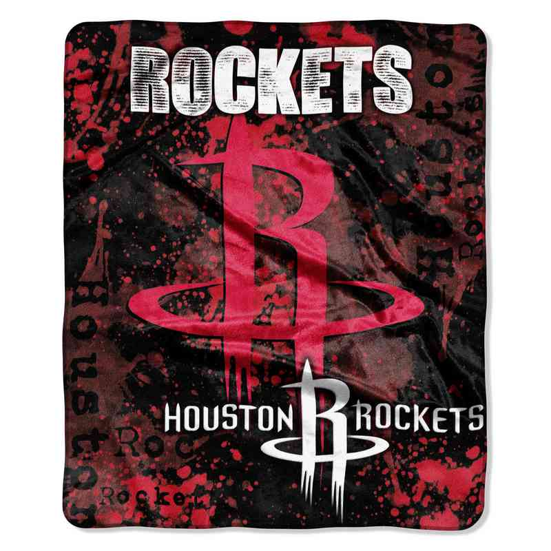 1NBA670000010RET: NBA DROPDOWN RASCHEL THROW, Rockets