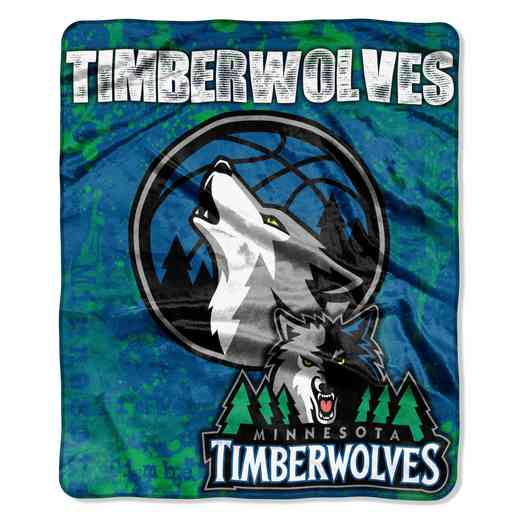 1NBA670000016RET: NBA DROPDOWN RASCHEL THROW, Timberwolves