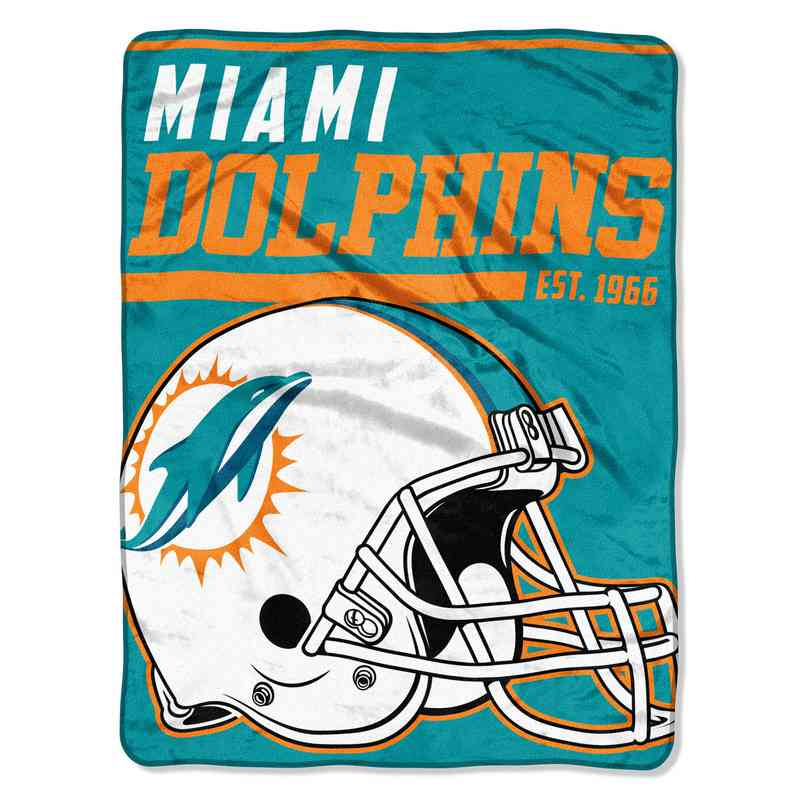 Miami Dolphins Plush Sports Throw