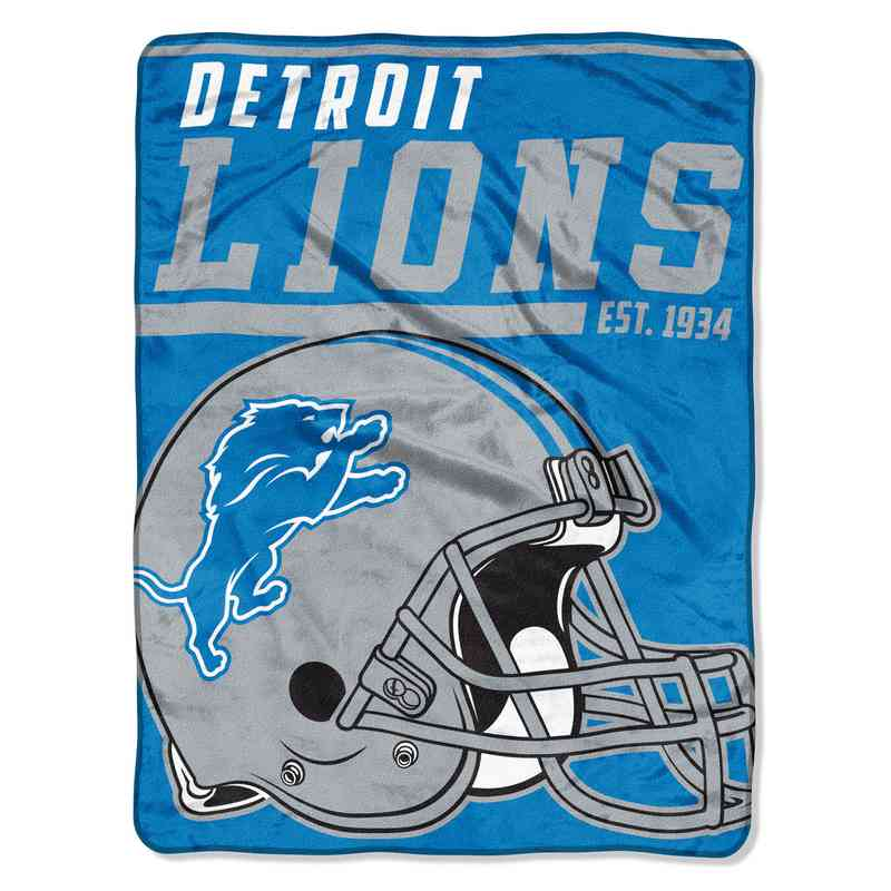 Detroit Lions Plush Sports Throw
