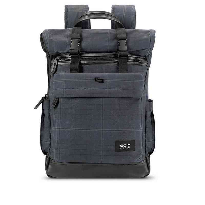 HLD701-51U2 : Solo Cameron Rolltop Backpack- Plaid