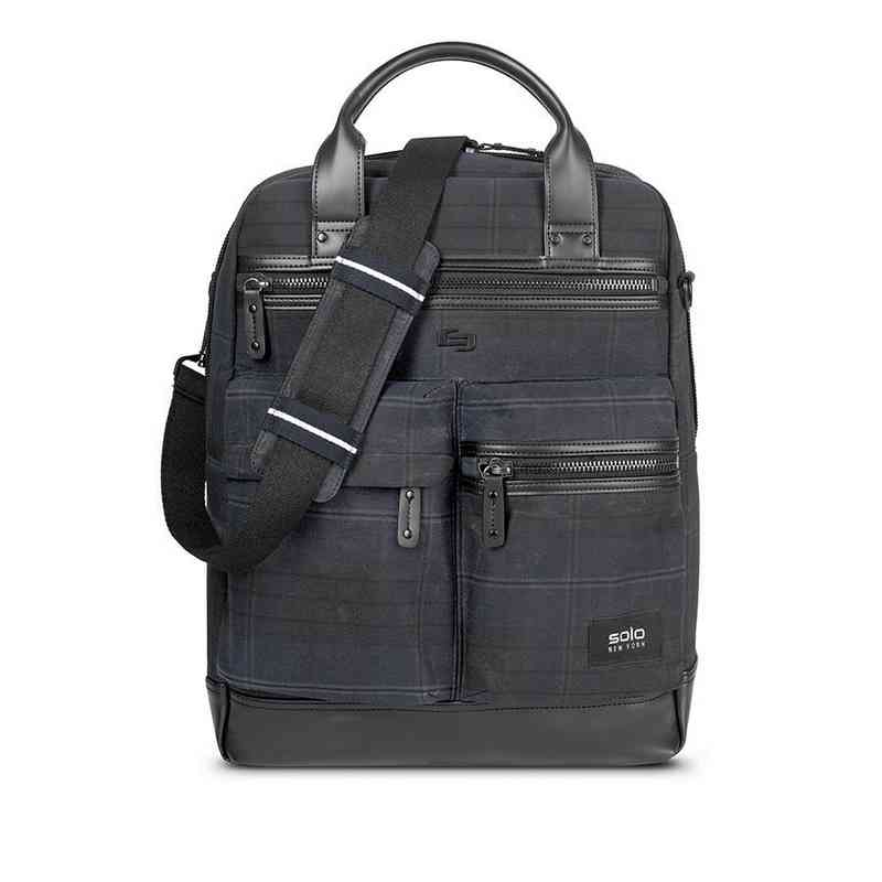 HLD800-51U2 : Solo Alastair Vertical Briefcase- Plaid