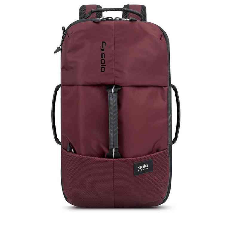 VAR600-60U4: Solo All-Star Hybrid Backpack Duffel- Burgundy