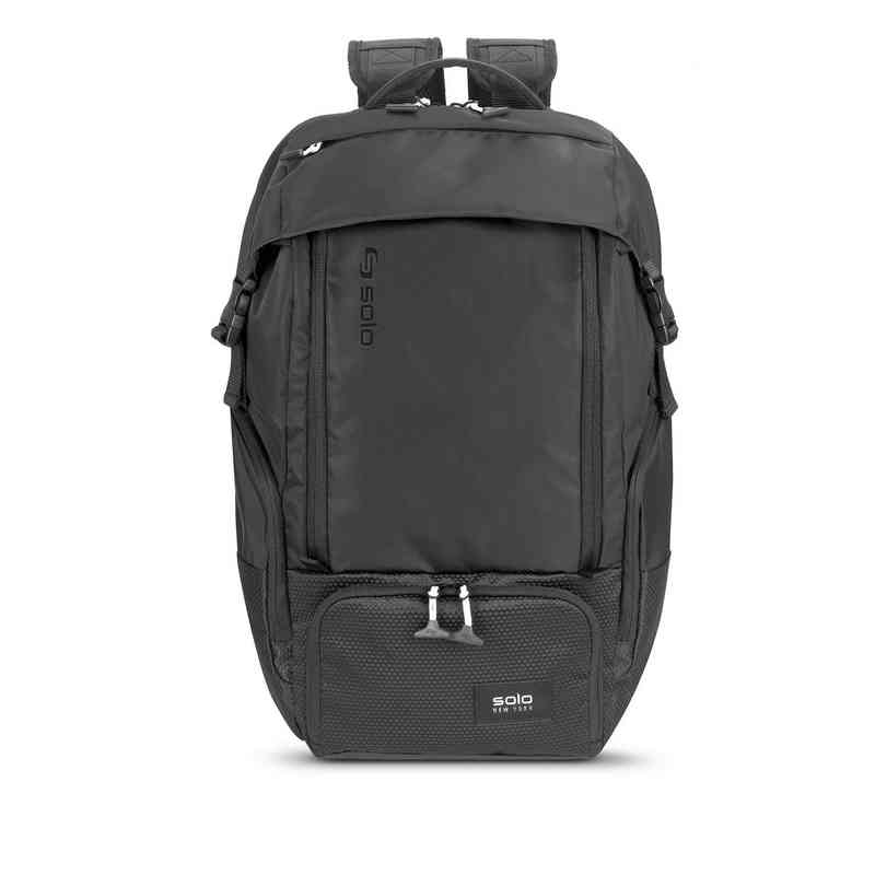 VAR702-4U4 : Solo Elite Backpack- Black