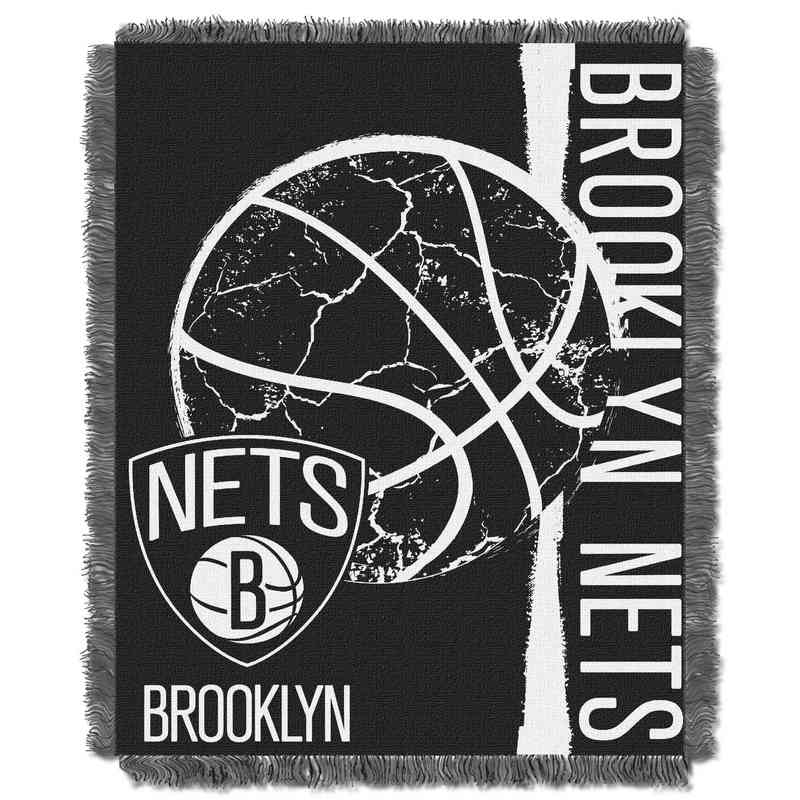1NBA019040017RET: NBA  JACQUARD THROW, Brooklyn Nets