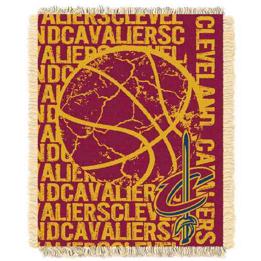 1NBA019040005RET: NBA  JACQUARD THROW, Cavaliers