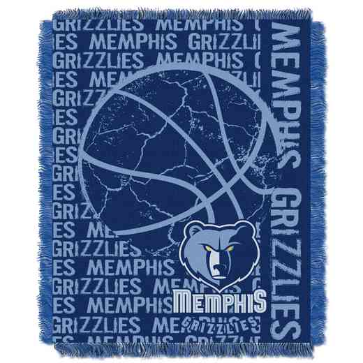 1NBA019040028RET: NBA  JACQUARD THROW, Grizzlies