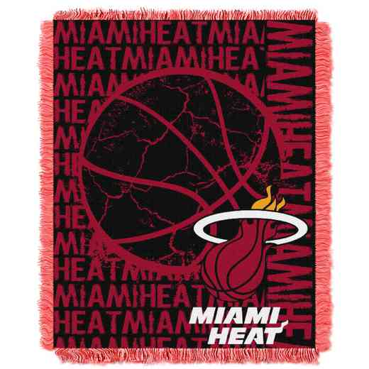 1NBA019040014RET: NBA  JACQUARD THROW, Heat