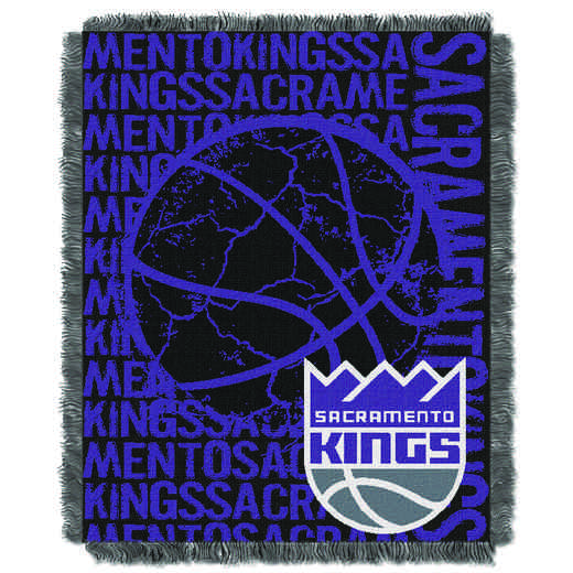 1NBA019040023RET: NBA  JACQUARD THROW, Kings