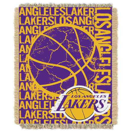 1NBA019040013RET: NBA  JACQUARD THROW, Lakers