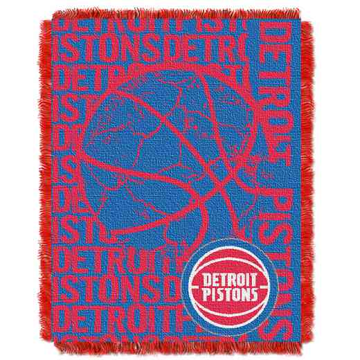 1NBA019040008RET: NBA  JACQUARD THROW, Pistons