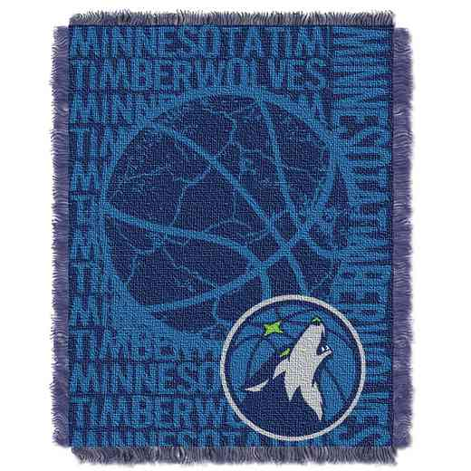 1NBA019040016RET: NBA  JACQUARD THROW, Timberwolves