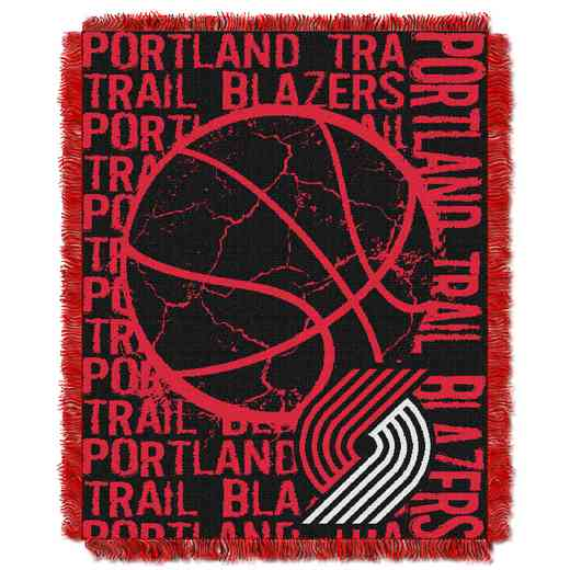 1NBA019040022RET: NBA  JACQUARD THROW, Trailblazers