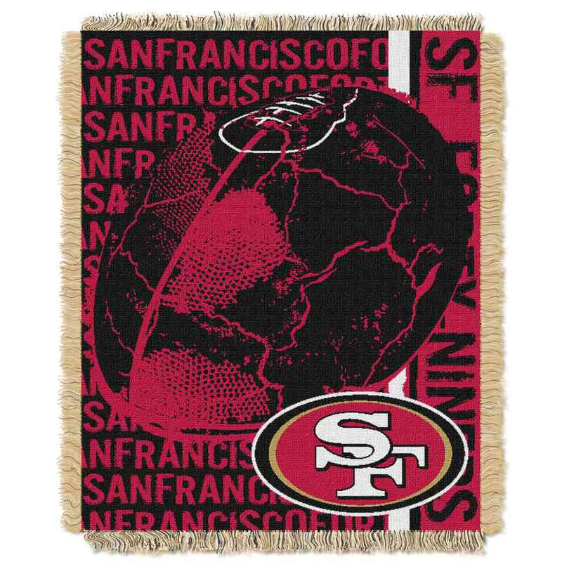 1NFL019030013RET: NFL Double Play Jacquard Throw, 49ers