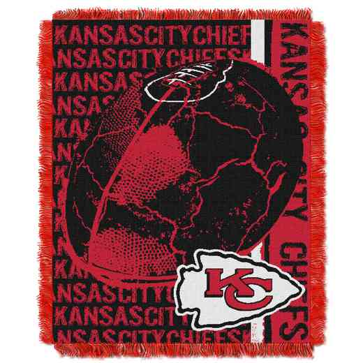 1NFL019030007RET: NFL Double Play Jacquard Throw, Chiefs