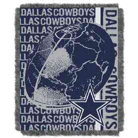 1NFL019030009RET: NFL Double Play Jacquard Throw, Cowboys