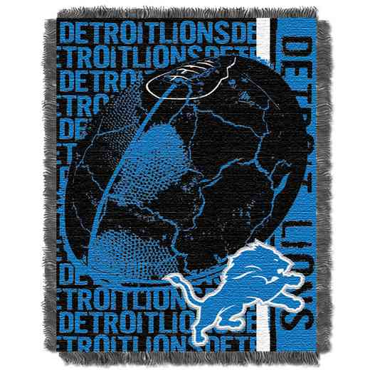 1NFL019030082RET: NFL Double Play Jacquard Throw, Lions