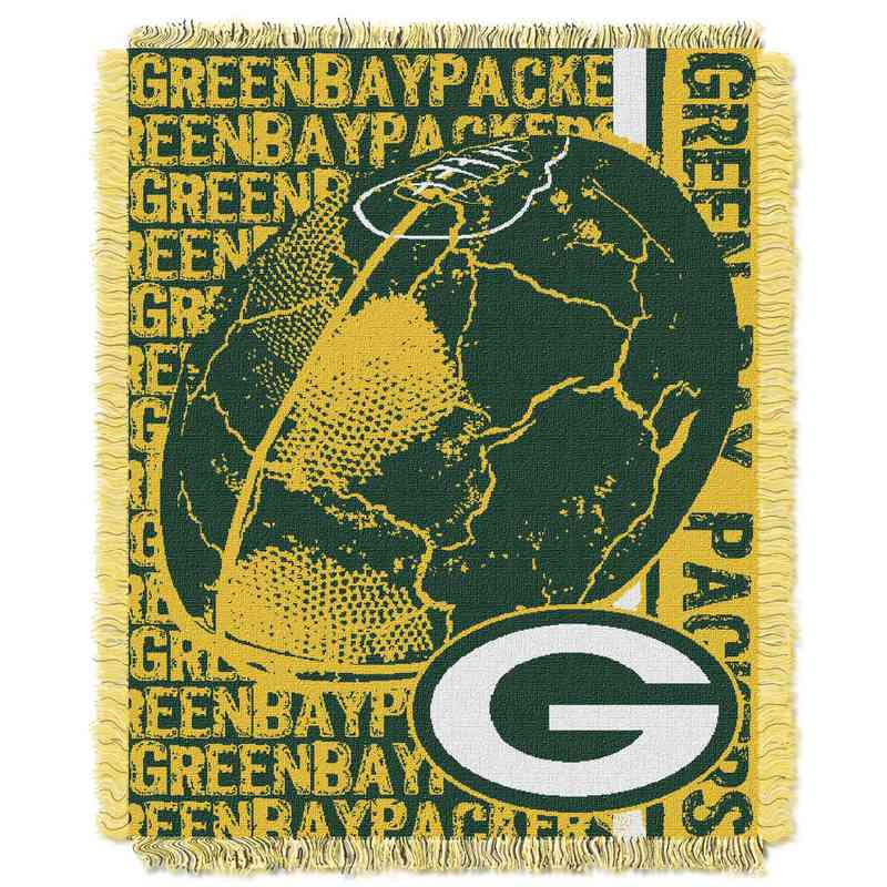1NFL019030017RET: NFL Double Play Jacquard Throw, Packers