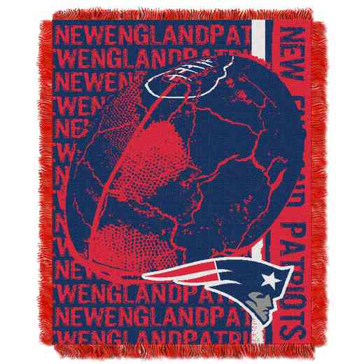 1NFL019030076RET: NFL Double Play Jacquard Throw, Patriots