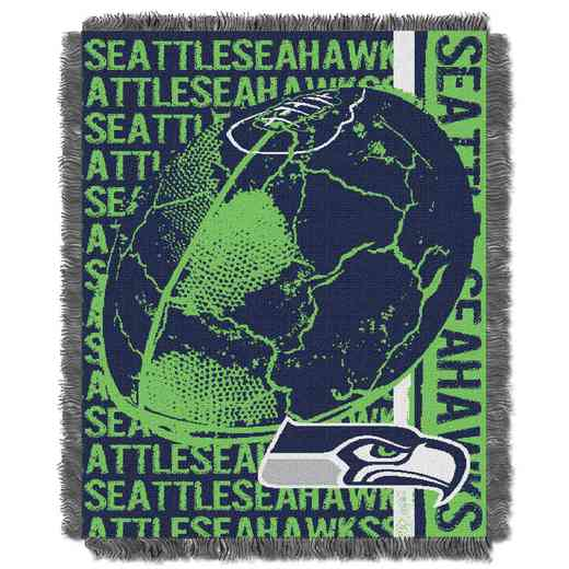 1NFL019030022RET: NFL Double Play Jacquard Throw, Seahawks