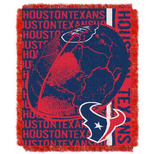 1NFL019030119RET: NFL Double Play Jacquard Throw, Texans
