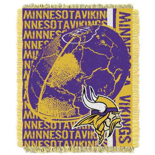 1NFL019030023RET: NFL Double Play Jacquard Throw, Vikings