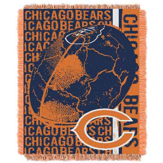 1NFL019030001RET: NFL Double Play Jacquard Throw, Bears