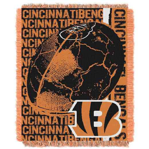 1NFL019030002RET: NFL Double Play Jacquard Throw, Bengals