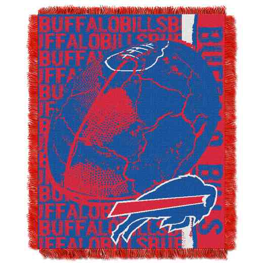 1NFL019030003RET: NFL Double Play Jacquard Throw, Bills