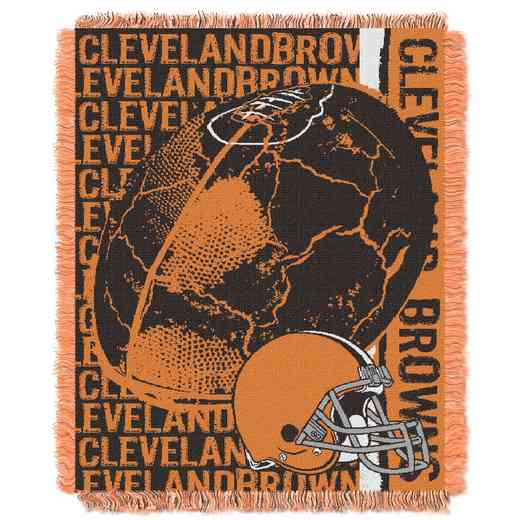 1NFL019030005RET: NFL Double Play Jacquard Throw, Browns