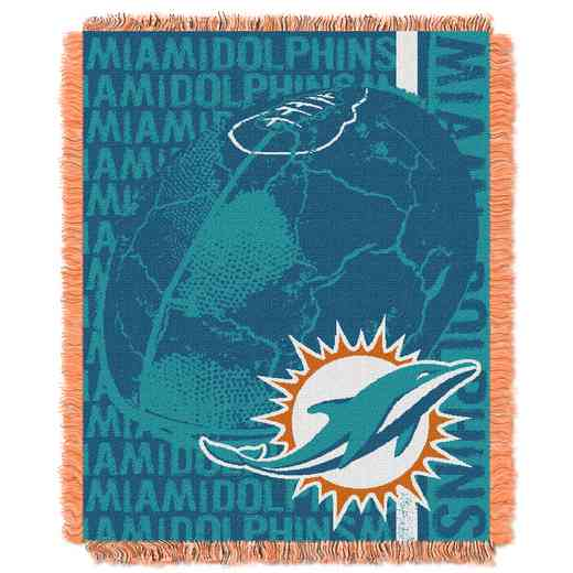 1NFL019030010RET: NFL Double Play Jacquard Throw, Dolphins