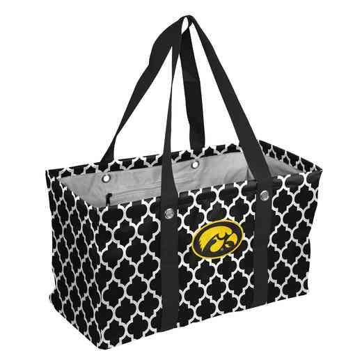 155-765QF: Iowa Quatrefoil Picnic Caddy