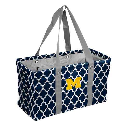 171-765QF: Michigan Quatrefoil Picnic Caddy