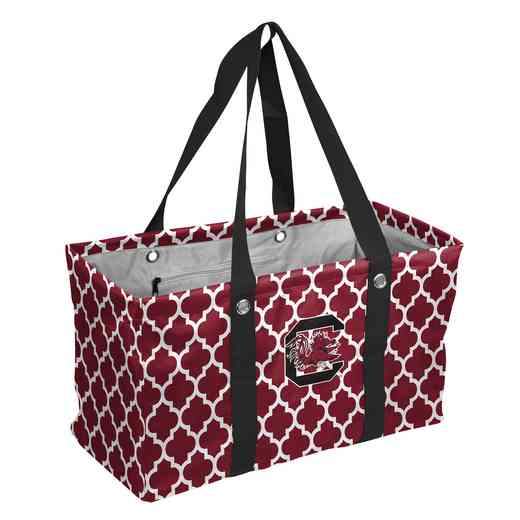 208-765QF: South Carolina Quatrefoil Picnic Caddy