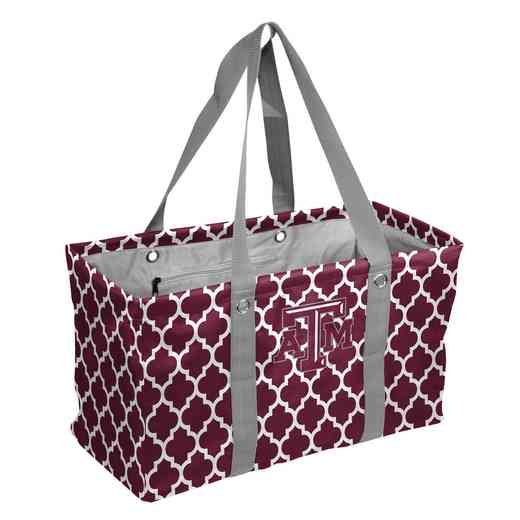219-765QF: TX A&M Quatrefoil Picnic Caddy