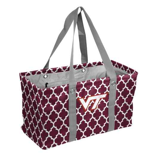 235-765QF: VA Tech Quatrefoil Picnic Caddy